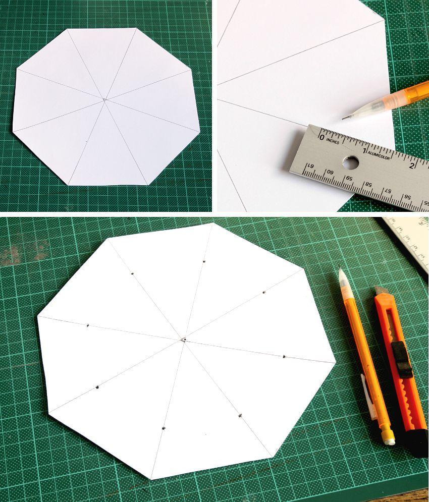 Simple Folded Felt Bowls Octagon