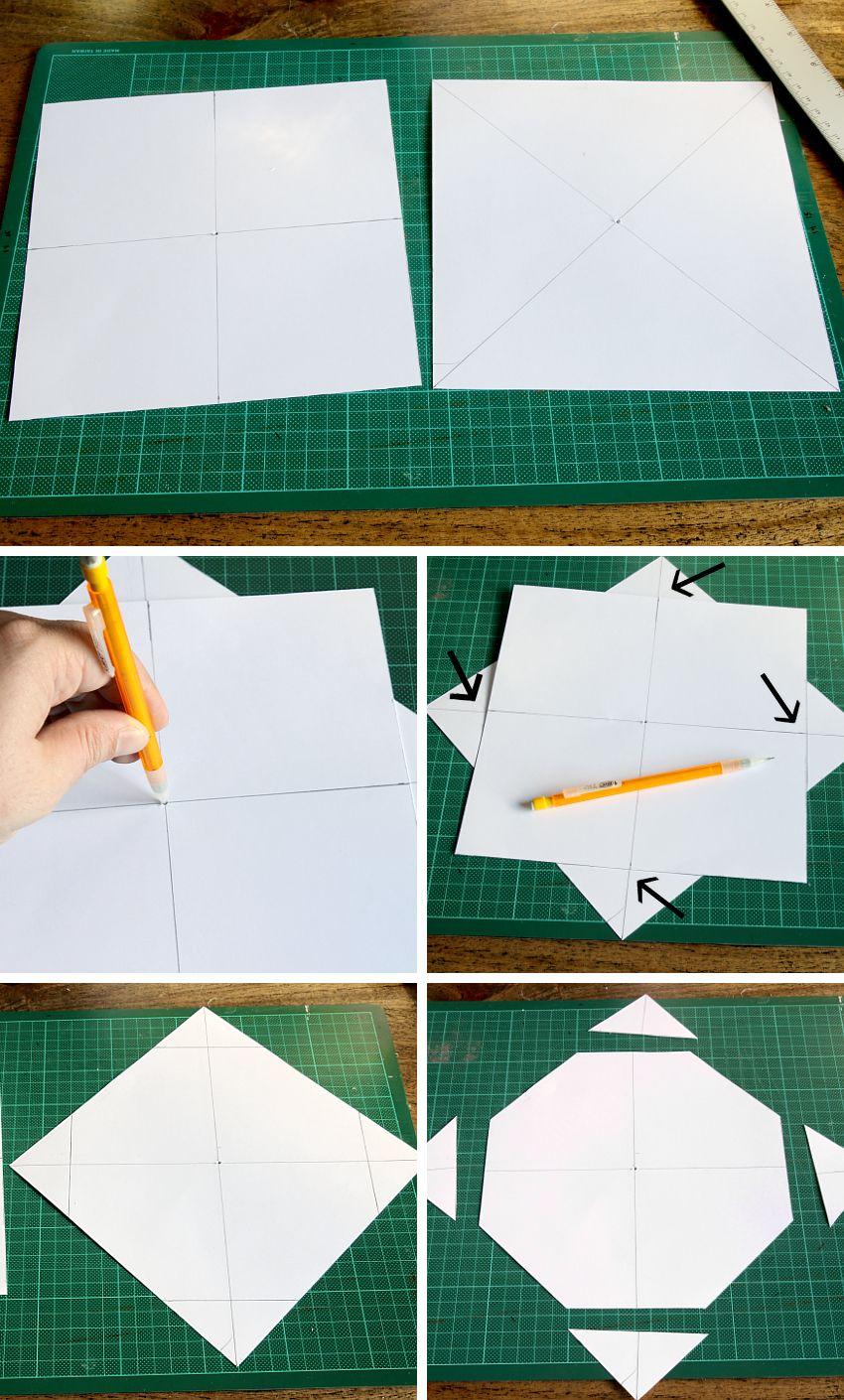 Simple Folded Felt Bowls Steps