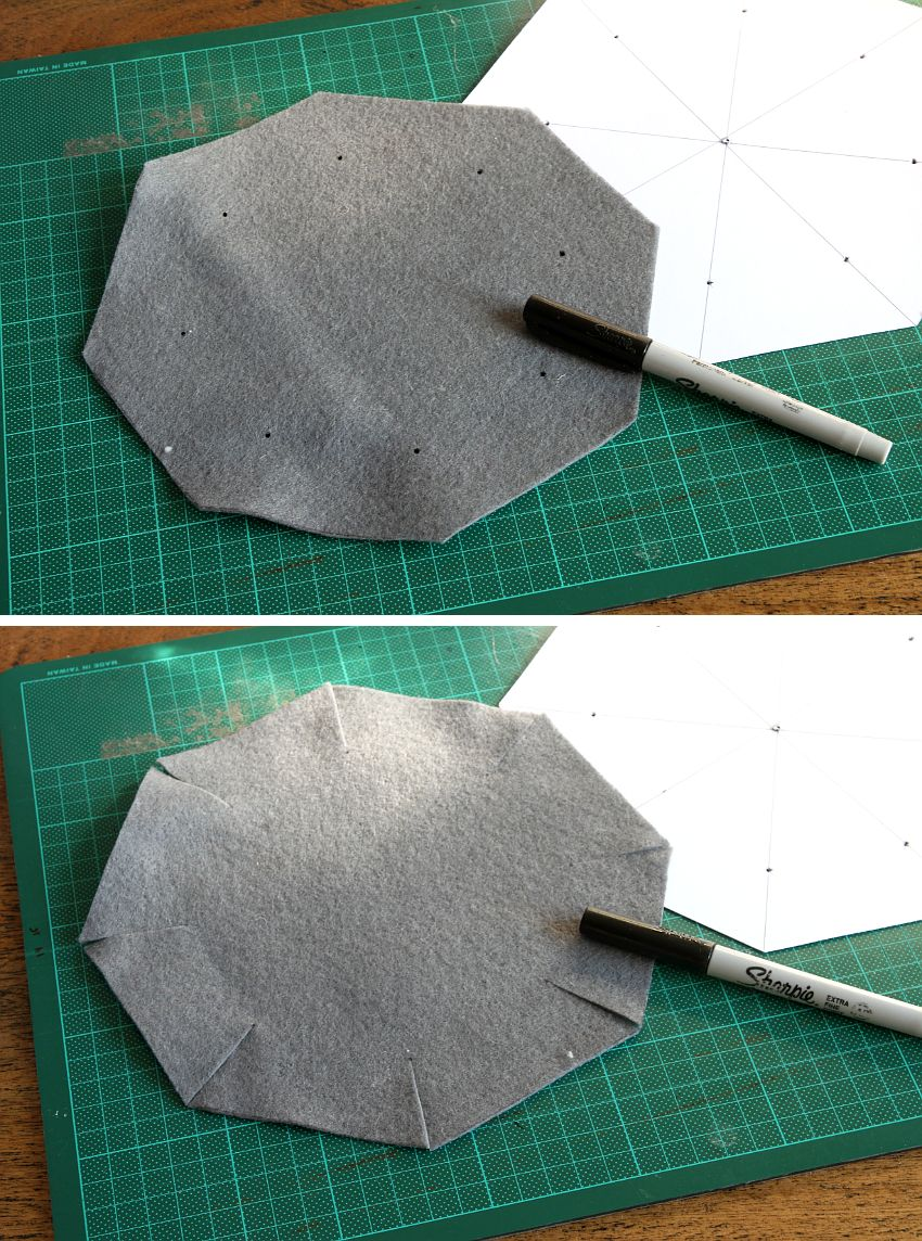 Simple Folded Felt Bowls Template