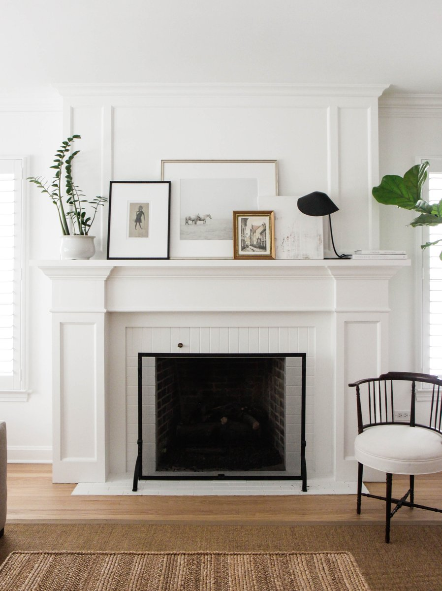 Simple mantel decor