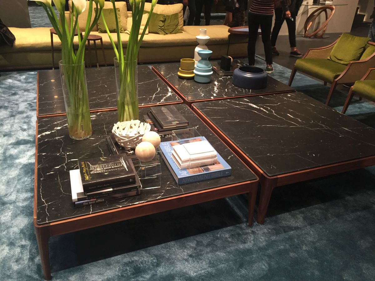 Square marble coffee tables for large living rooms