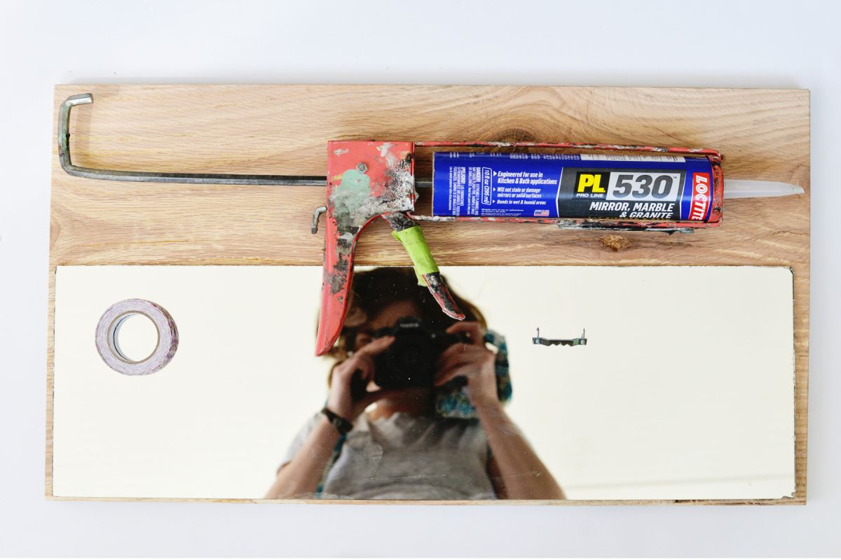 Supplies for DIY Wood Framed Mirror