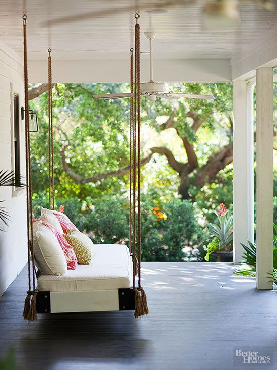 Outdoor porch beds that will make nature naps worth it tassels hanging bed solutioingenieria Gallery
