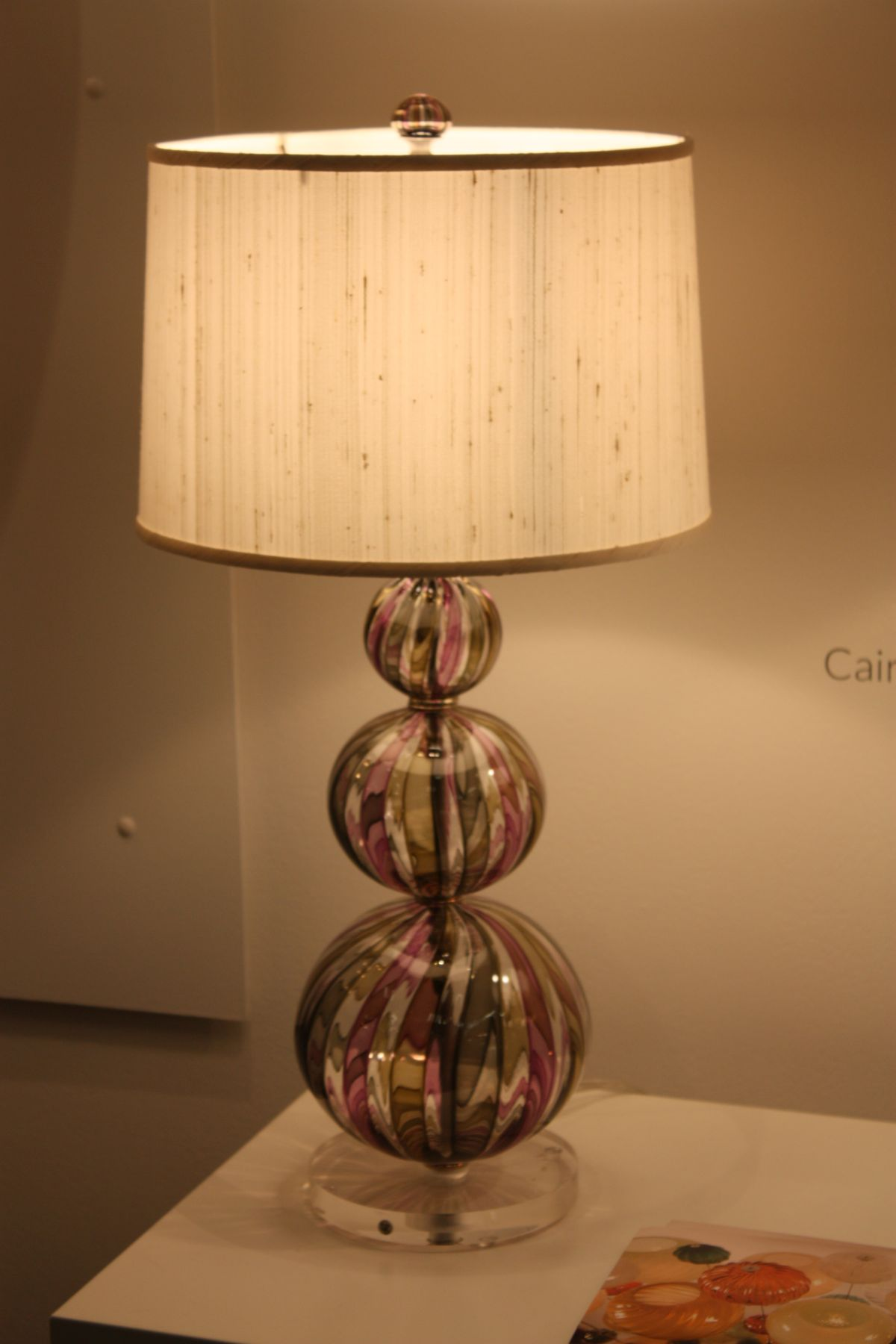 Taupe lamp design