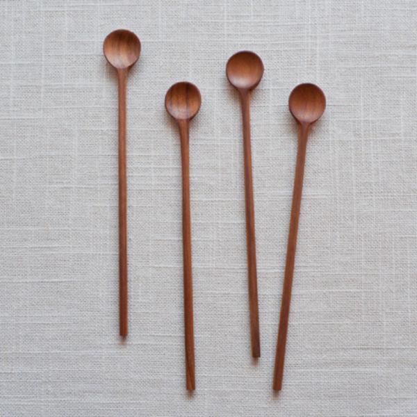 Teak stirring spoons