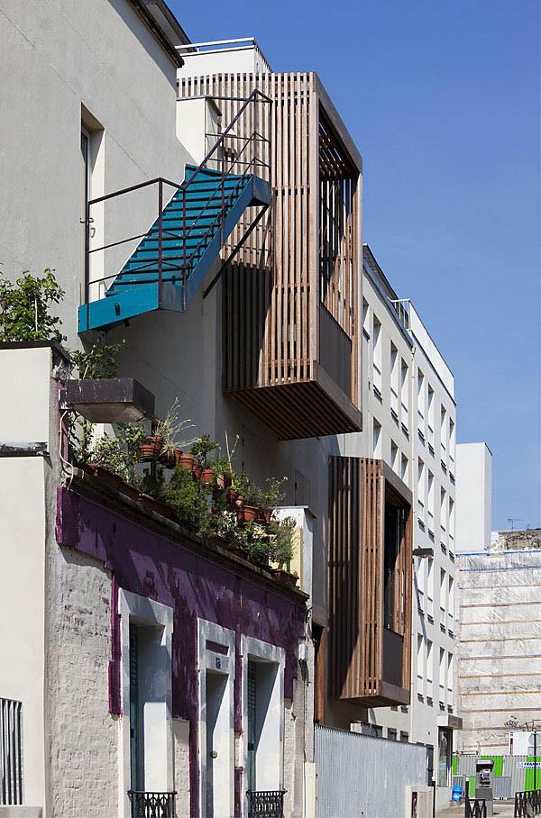 Tetris social housing and artist studios angle