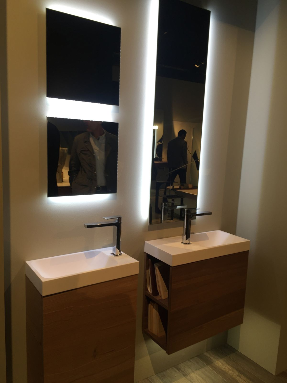 Tiny bathroom vanity with storage
