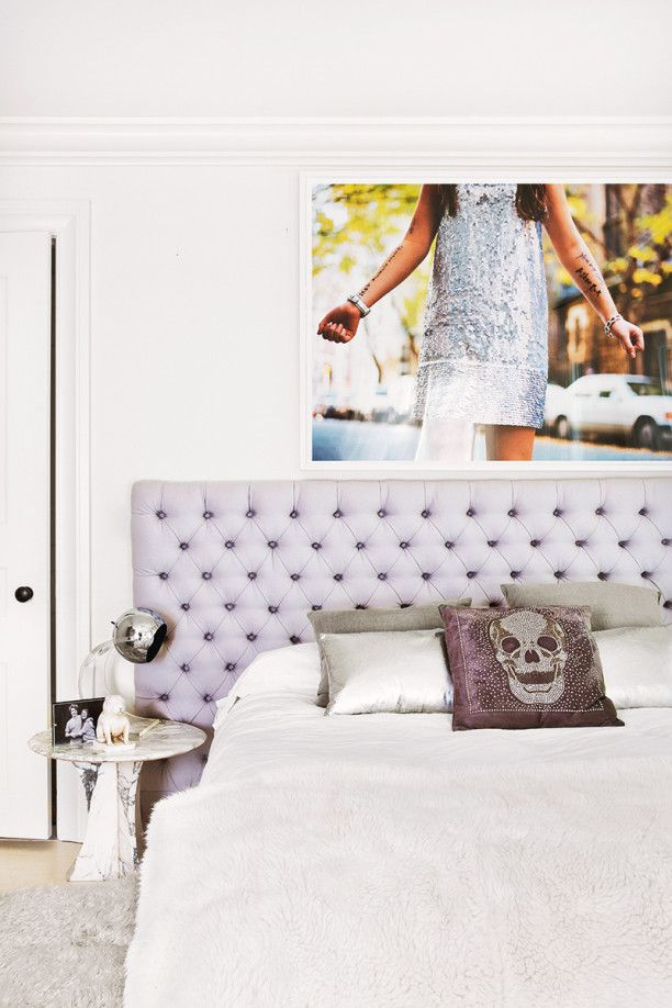 Tufted Lavender headboard