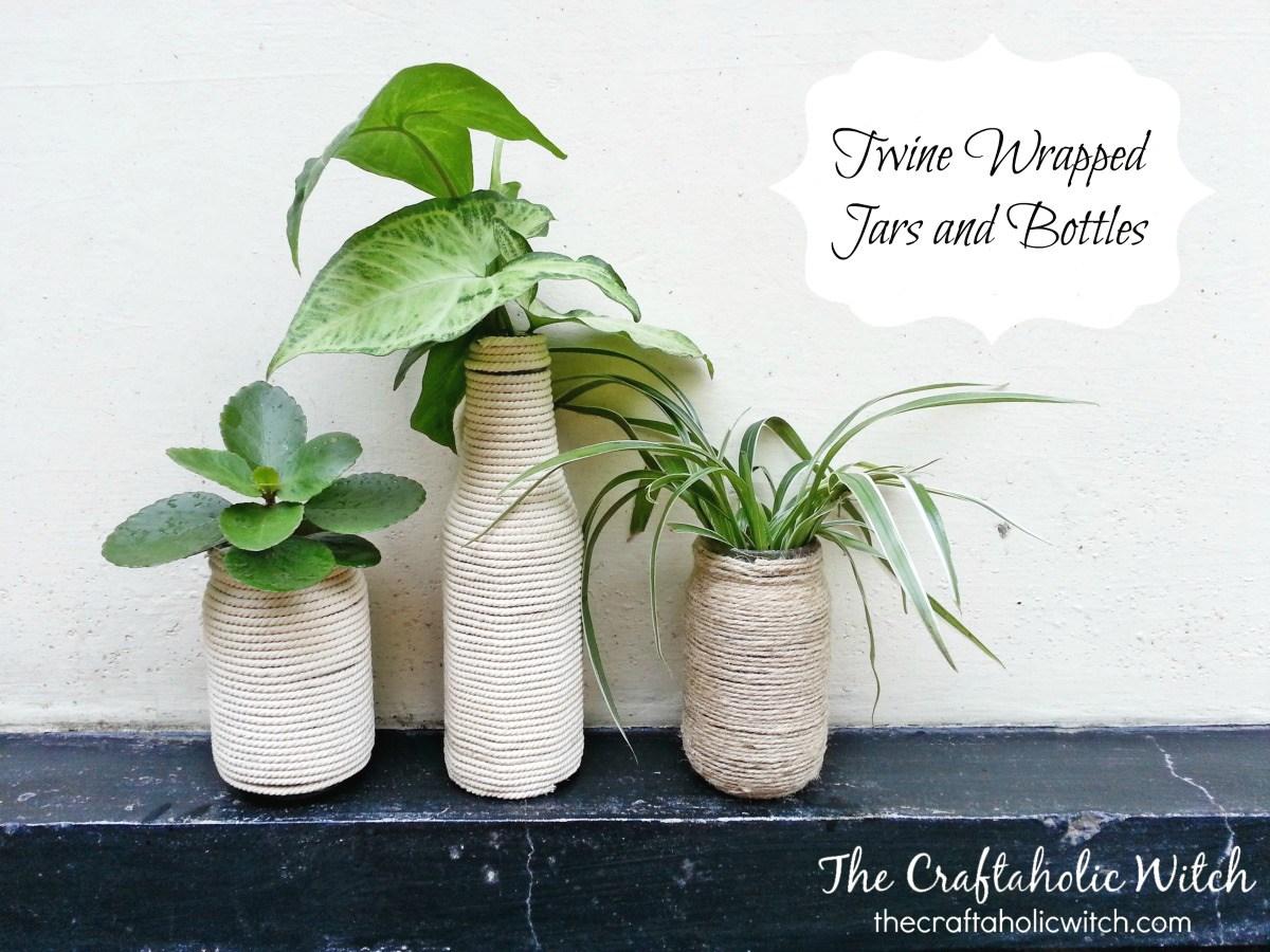 Twine vases