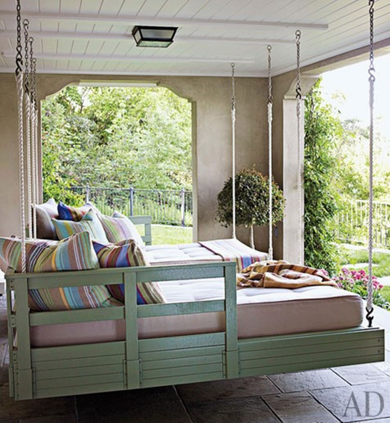 Twins hanging beds Outdoor Porch Beds That