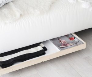 Mobile Coffee Table Diy Under Sofa Storage On Wheels