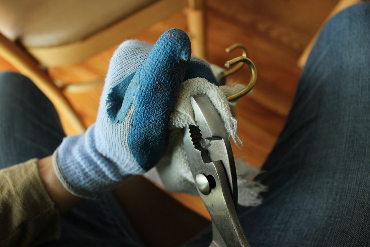 Using your pliers