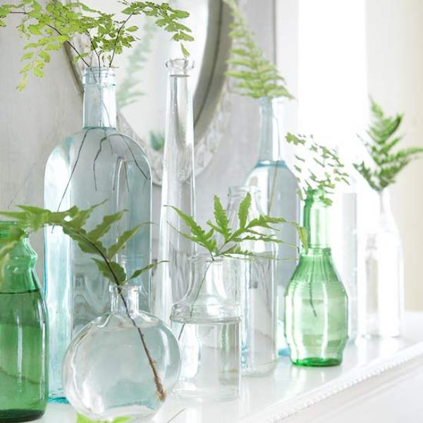 Vases mantel decor