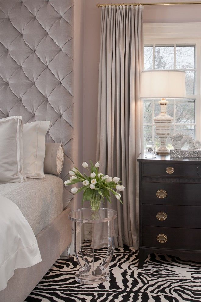 Velvet feminine bedroom headboard