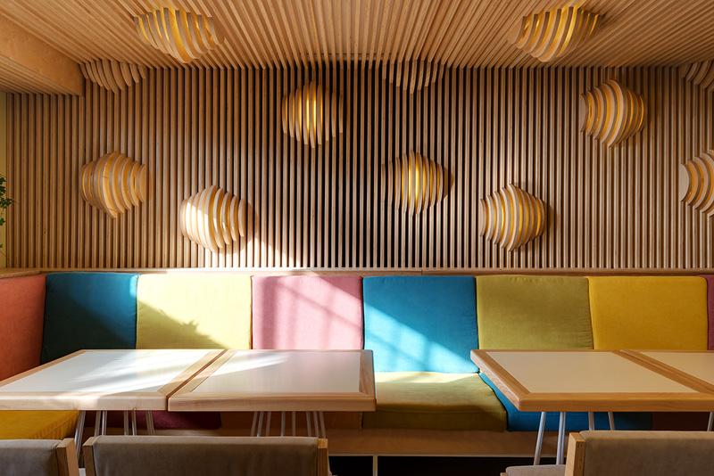 Wall lights shapped like croissants