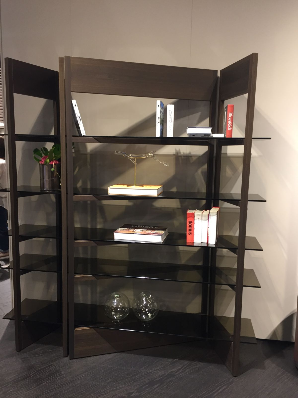 Attractive Wall Unit With An Unusual Angle