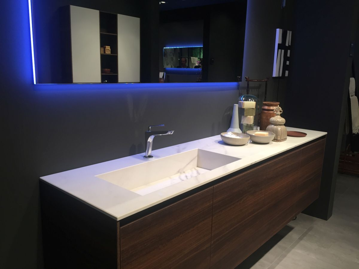 Awesome Walnut Bathroom Vanity Design