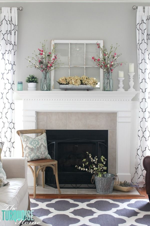 Window mantel decor