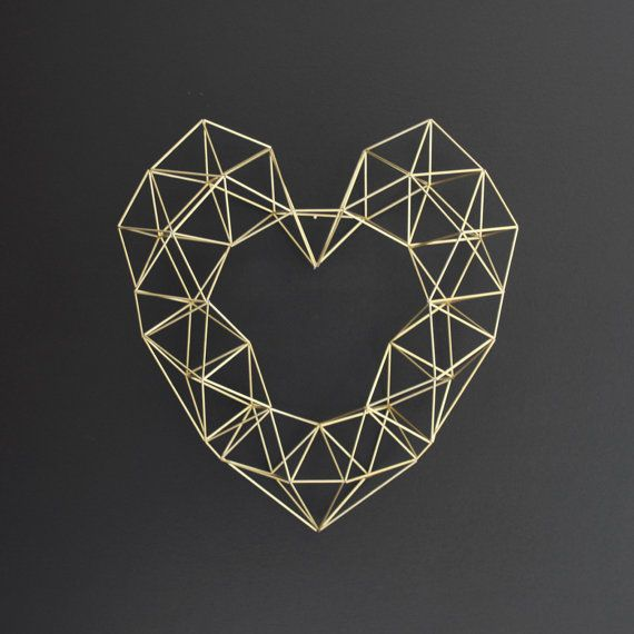 Wire geometric wreath