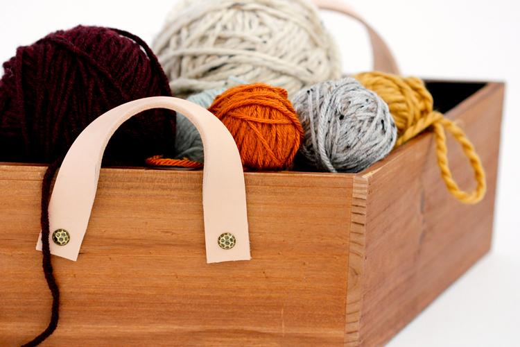 Wood + Leather Basket TUTORIAL