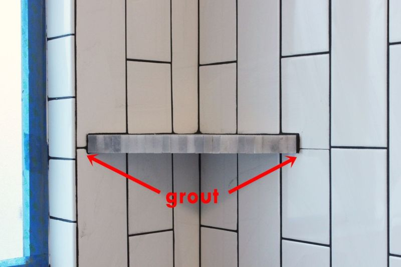add grout in small spaces