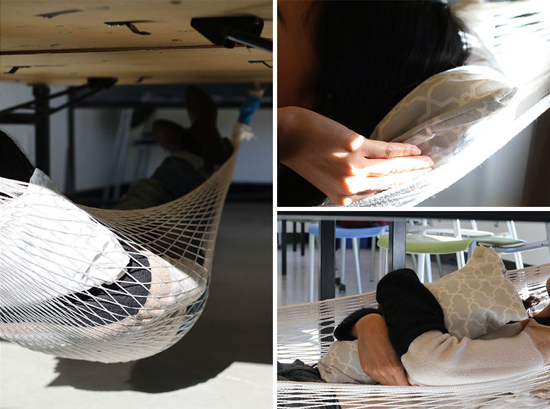 hammock desk diy