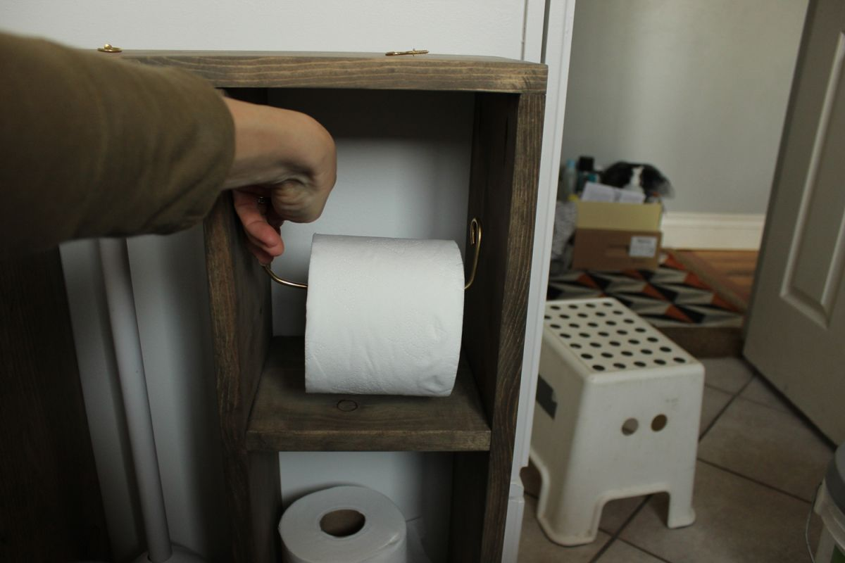 hang a toilet paper holder