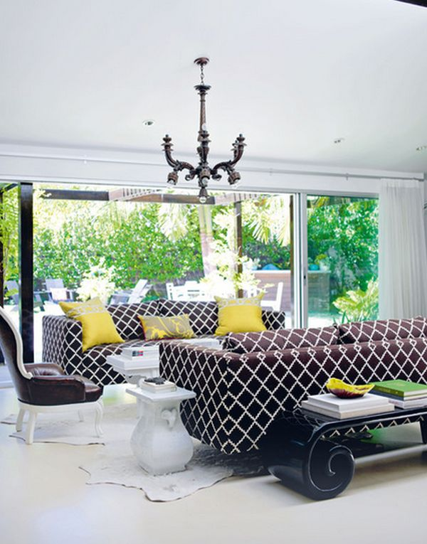printed sofa