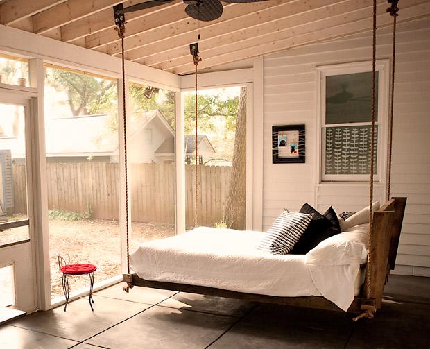 redditor designs stunning hanging loft bed home harmonizing