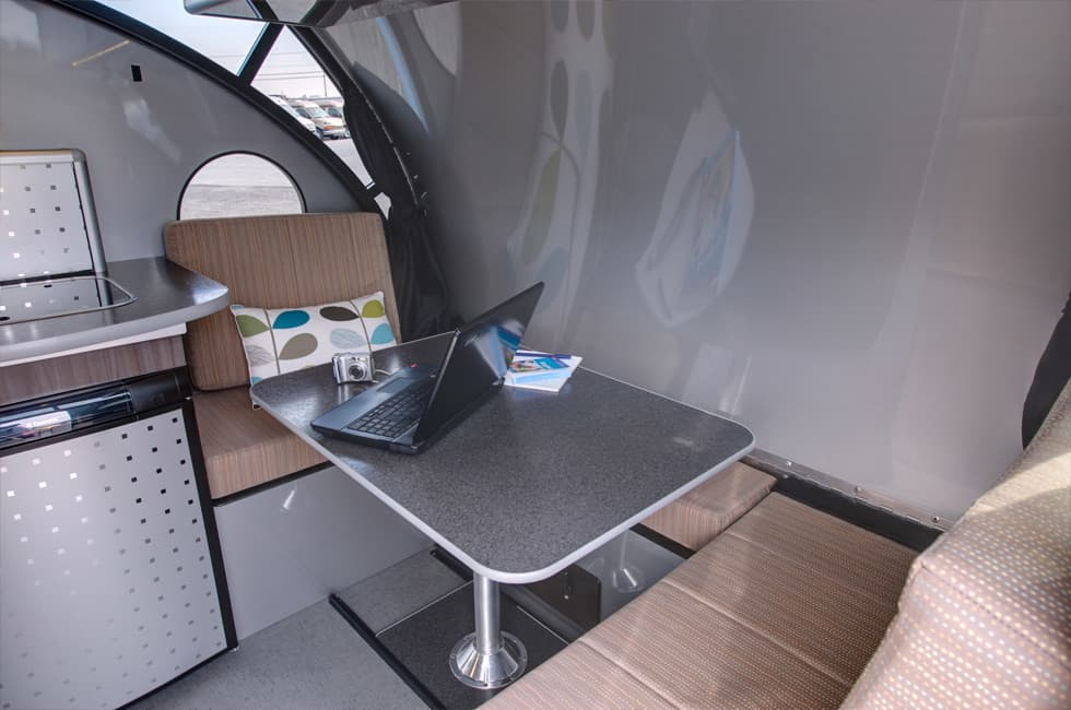 Teardrop Trailer Transforms Into A Large Family Camper Table