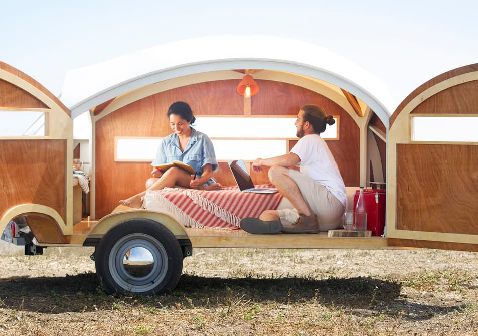 tiny teardrop trailer for two