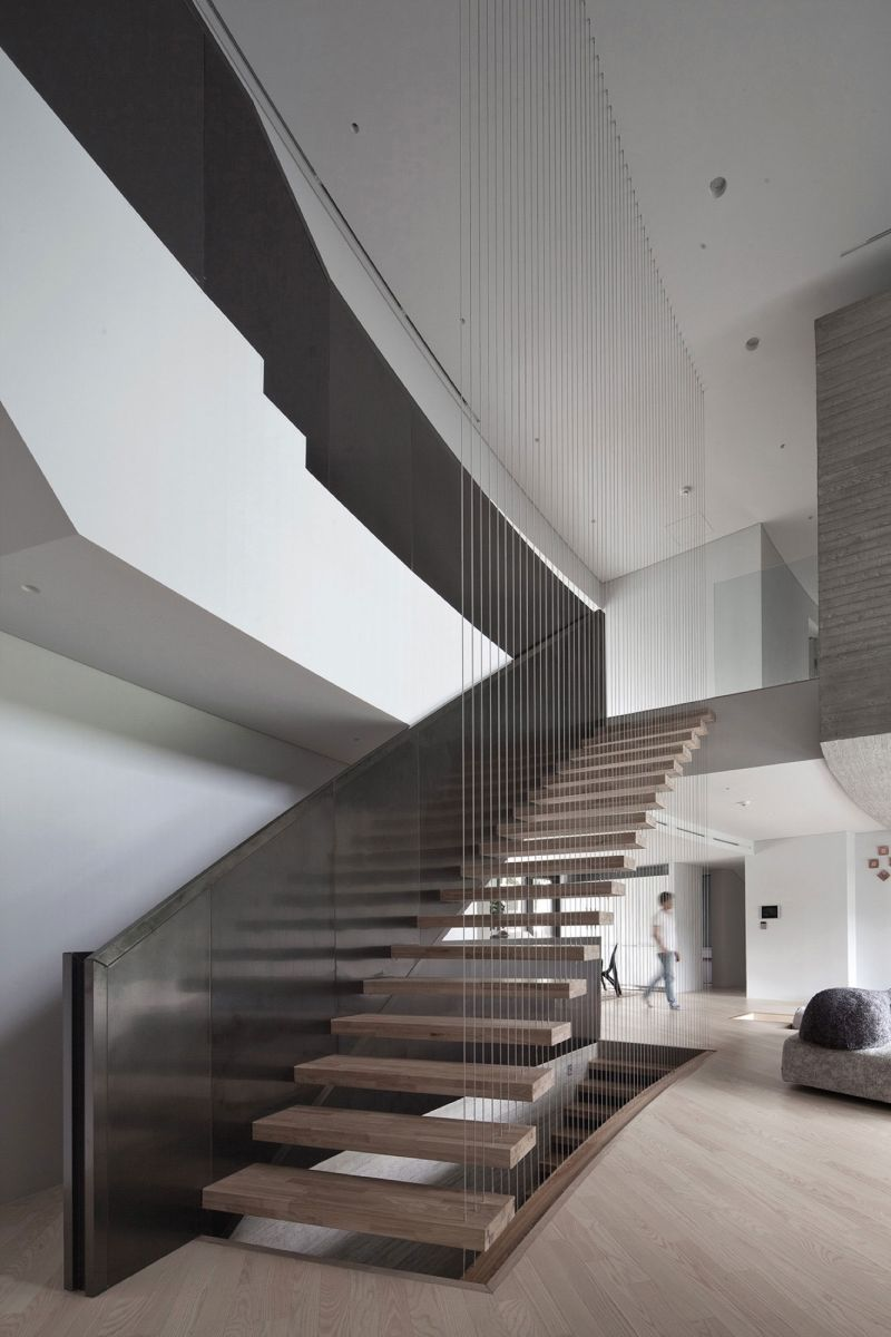 AAWH Residence floating stairs