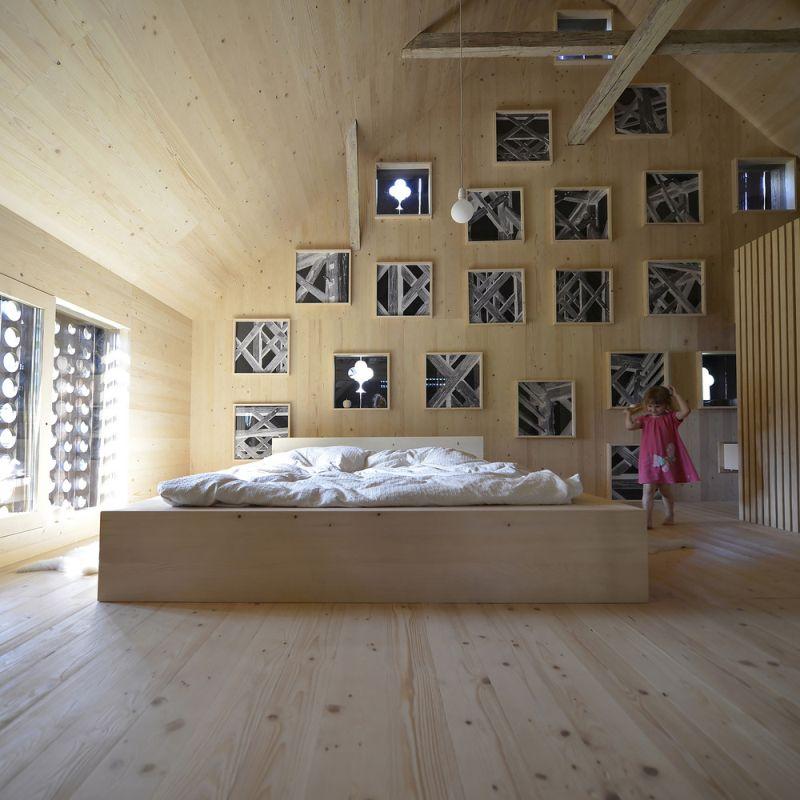 Alpine Barn Apartment Bedroom design