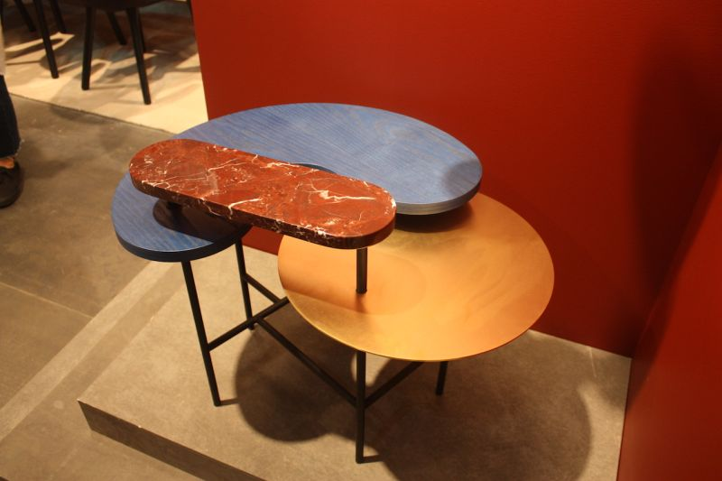 A connected set of smaller pieces makes for an interesting side table from &Tradition. The Palette Table designed by Spanish designer Jaime Hayon is made of different shaped tops done in various colors and materials.