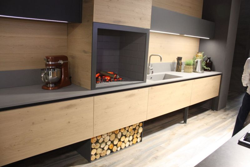 Wood kitchen cabinets just one way to feature natural material for Natural wood kitchen designs