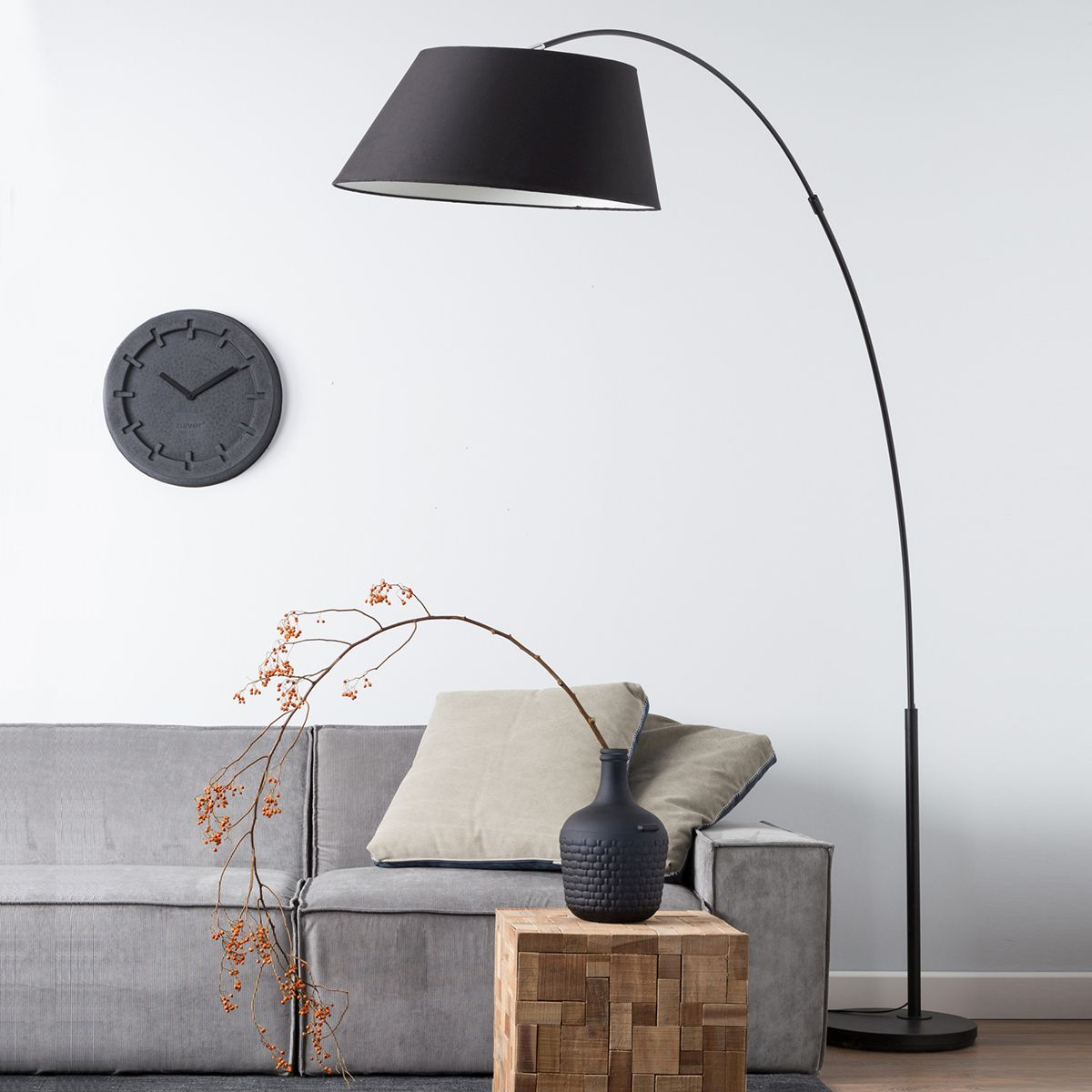 The many stylish forms of the modern arc floor lamp arc floor lamp in black color aloadofball Image collections