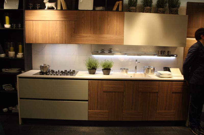 Wood kitchen cabinets just one way to feature natural material Kitchen design mixed cabinets