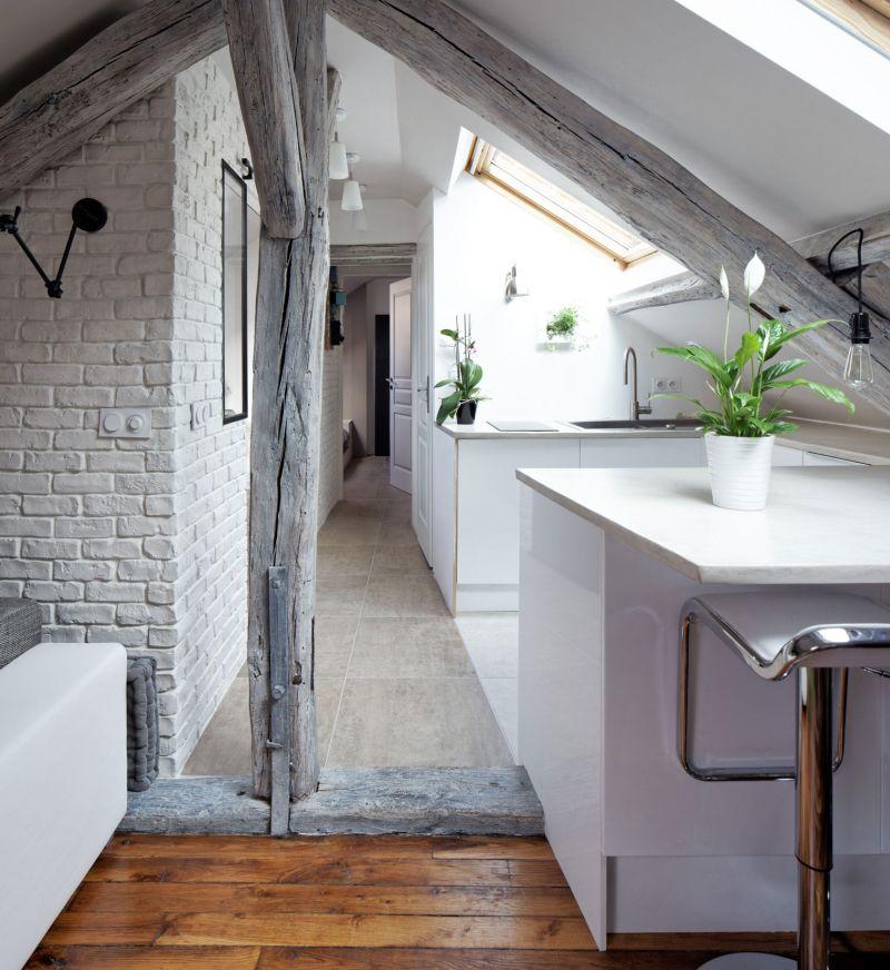 Attic apartment in France central corridor