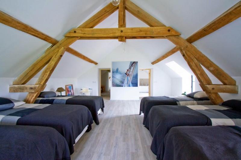 Barn Conversion in Burgundy Attic Bedroom