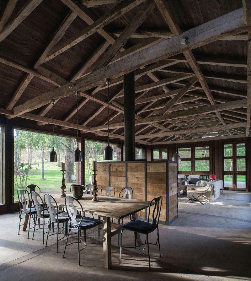 Barn House at Lake Ranco Interior
