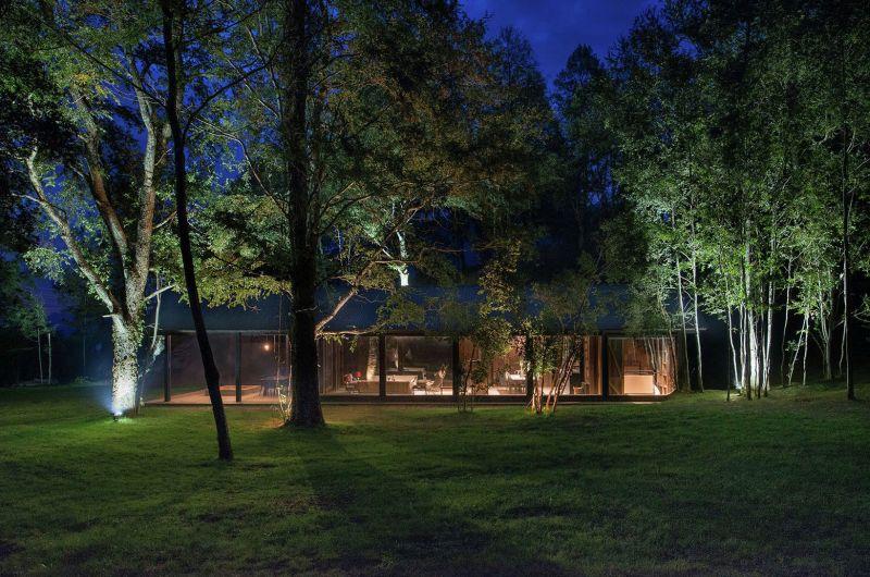 Barn House at Lake Ranco Night View