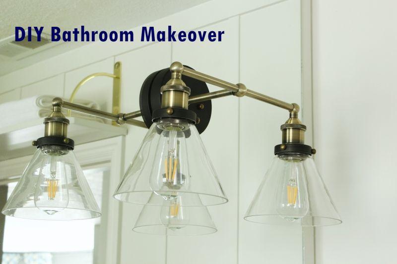 Bathroom makeover Collage