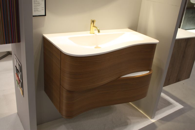 Bathroom paired with wood finish