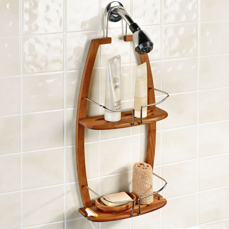Bathroom shower wall storage
