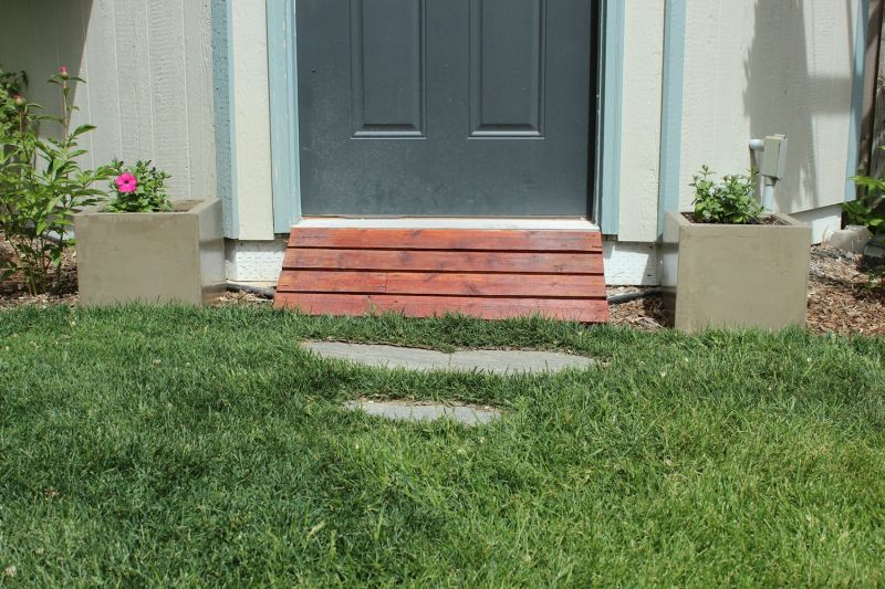 Beautiful Front Door Planters From Concrete
