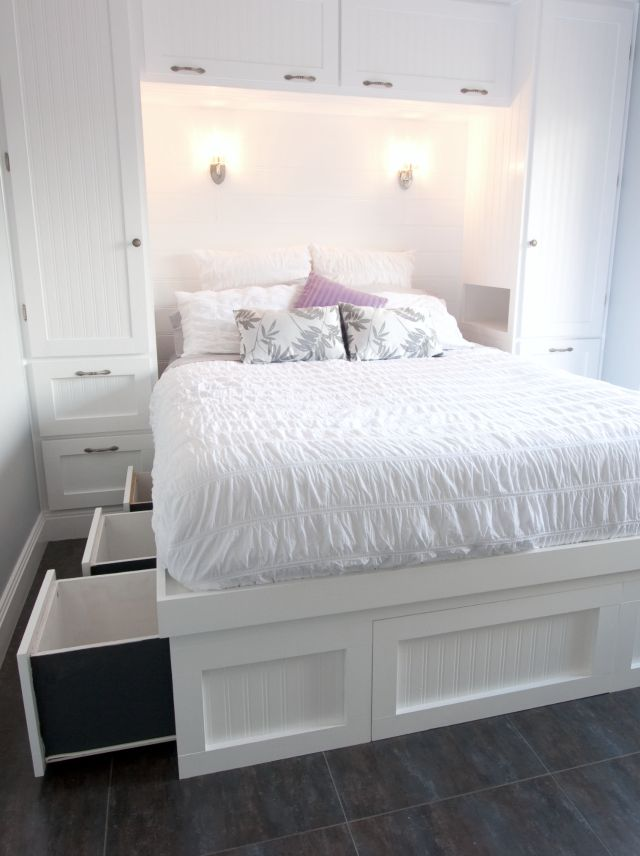 Bed with under storage space