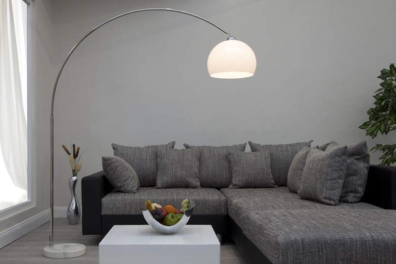 The many stylish forms of the modern arc floor lamp big bow white floor lamp aloadofball Images