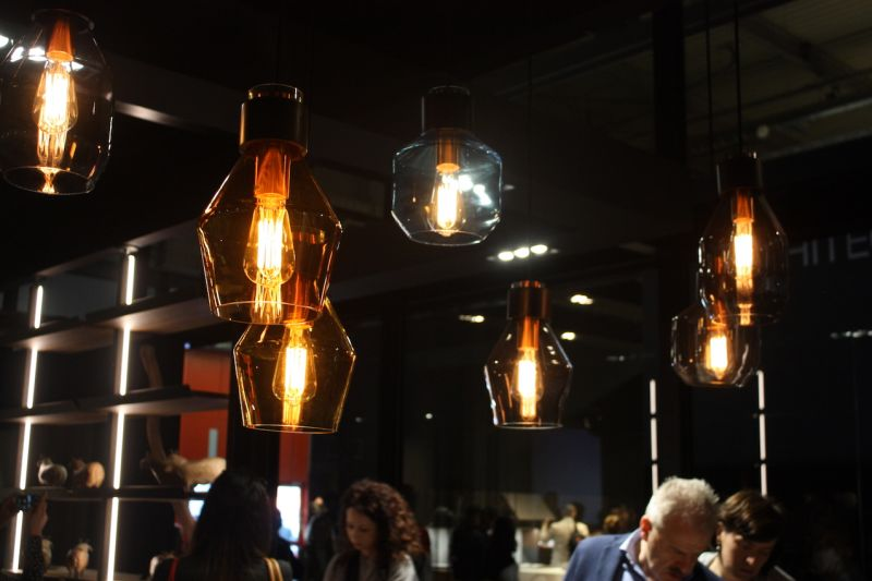 The Same Mixed And Staggered Arrangement Works With These Kitchen Lighting Pendants In Binova Exhibit