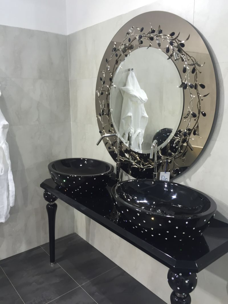 Black and luxury double vanity