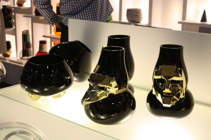 There were also plenty of accessories at ICFF. These glass vases from Vanessa Mitrani of Paris are part of her Mask Collection.